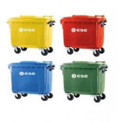 Pack 4 Contenedores 1100 Litros Reciclaje